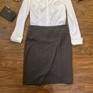 Pencil Skirt Above Knee Skirt Gray Size 7
